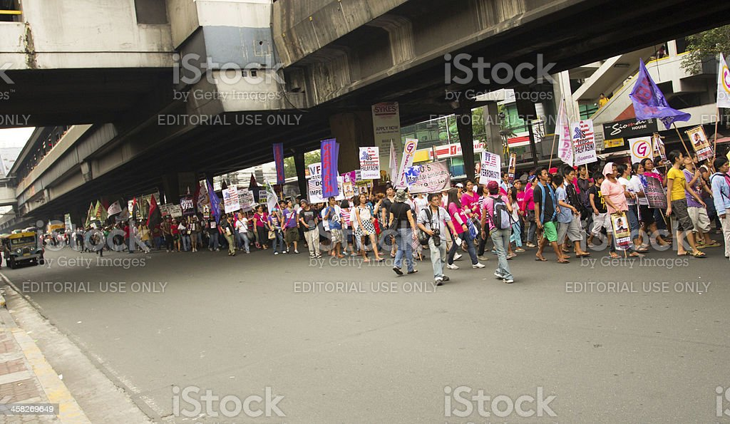International womens day march stock photo