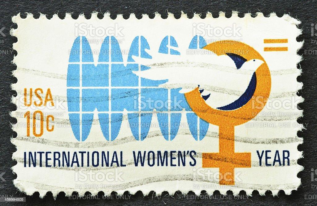 International Women's Year Stamp stock photo