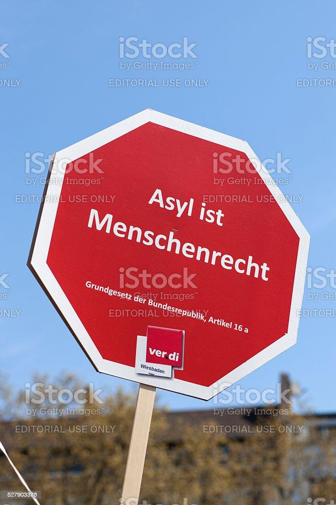 International Workers' Day - Tag der Arbeit 2016, Wiesbaden stock photo