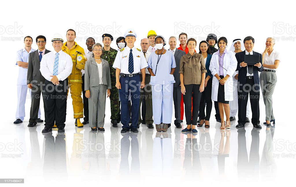 International Workers with different Occupations. stock photo