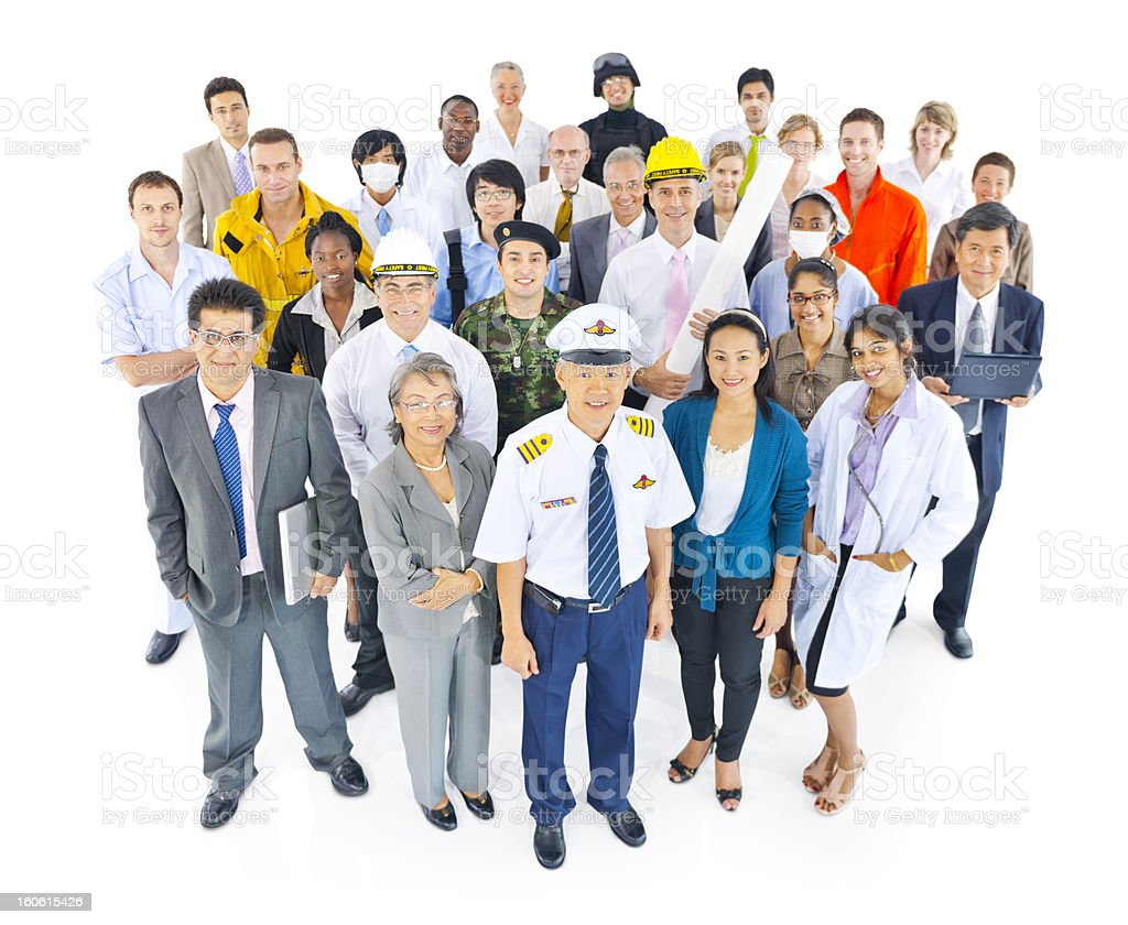 International Workers with different Occupations. royalty-free stock photo