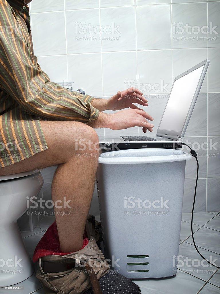 Internet addict royalty-free stock photo