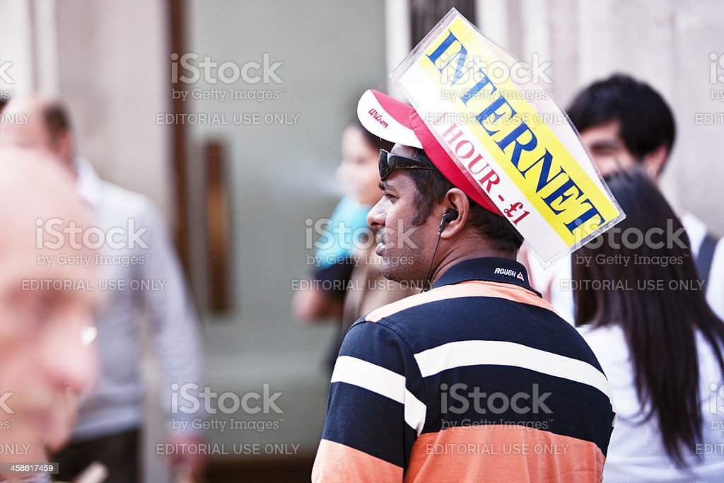 Internet advertising. stock photo