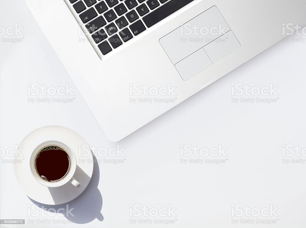 Internet and Coffee Break stock photo