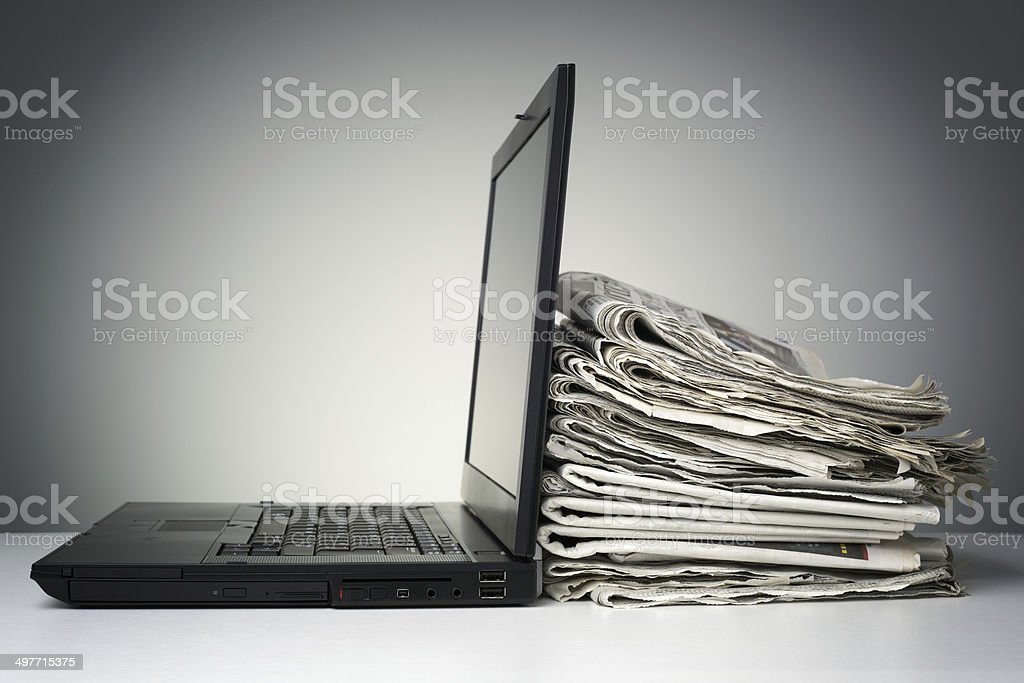 Internet and electronic online news stock photo
