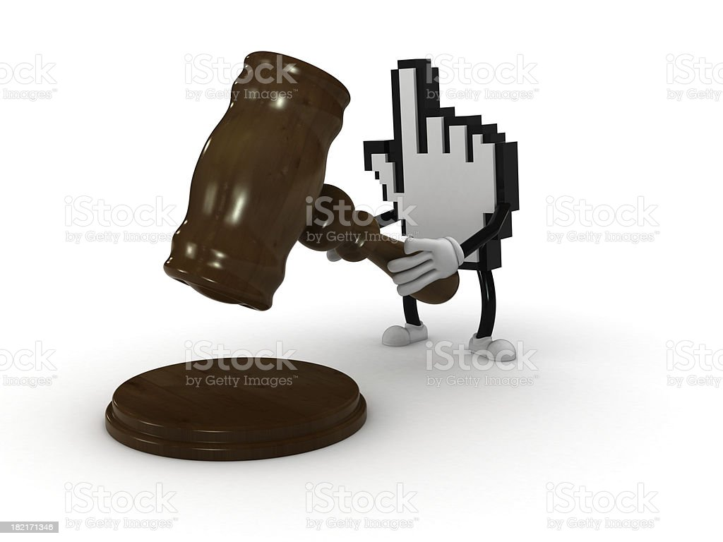 Internet auction stock photo