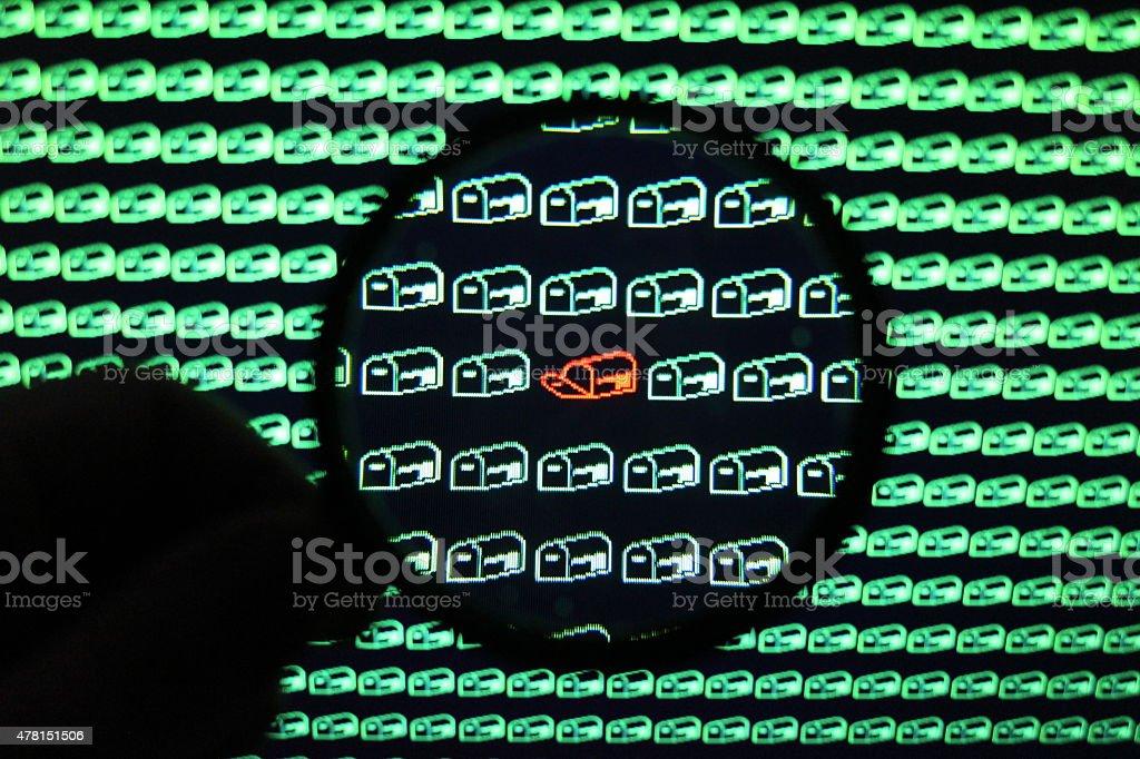 Internet Big Brother stock photo