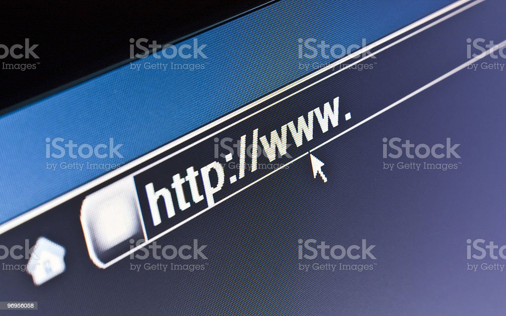 WWW Internet Browser HTTP Concept royalty-free stock photo