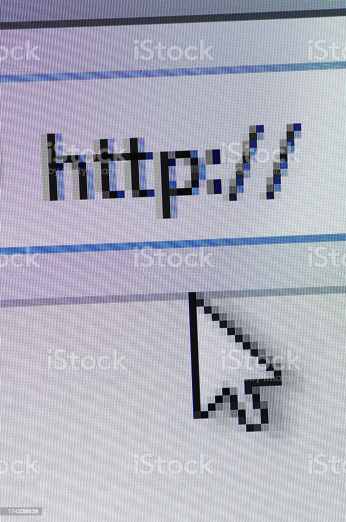 Internet browser stock photo