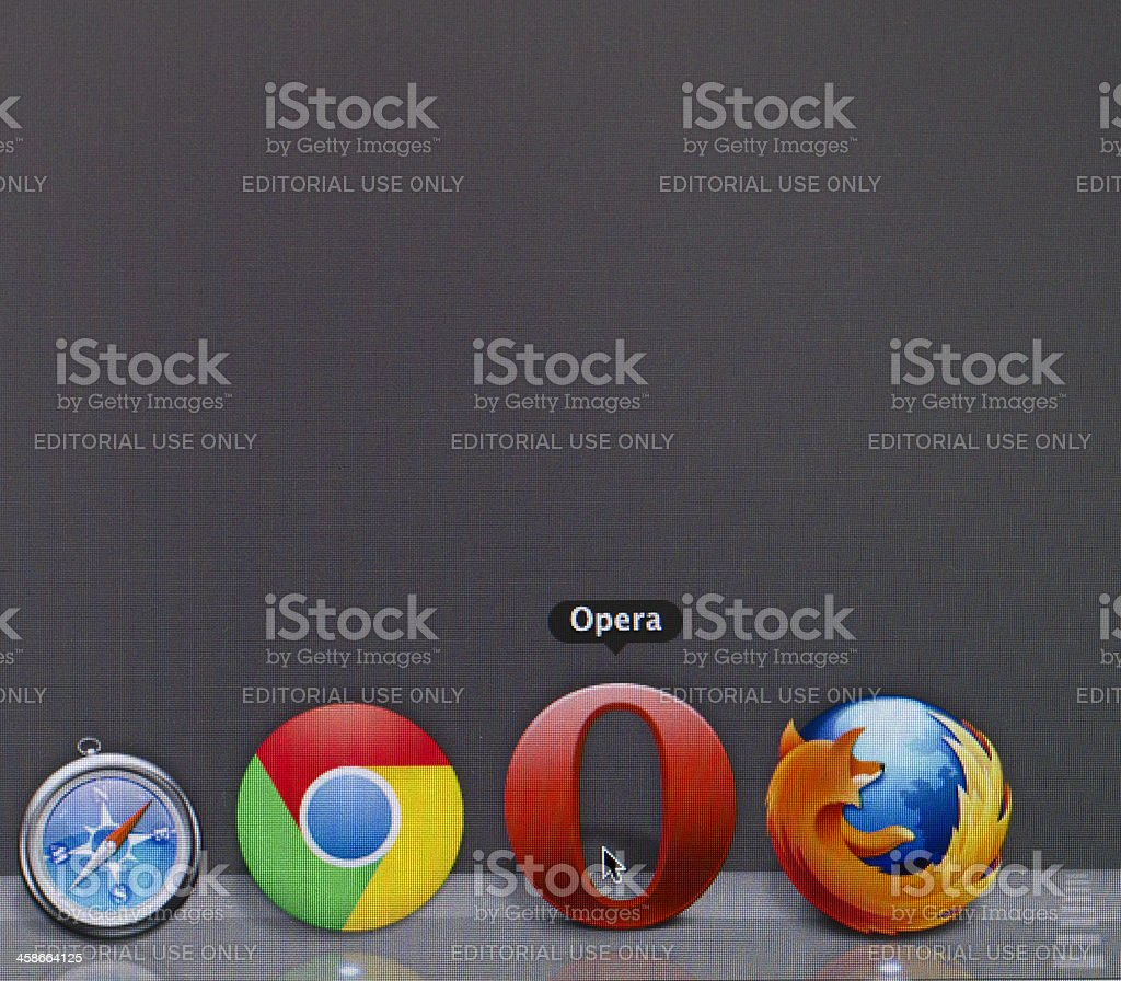 Internet browser wars stock photo