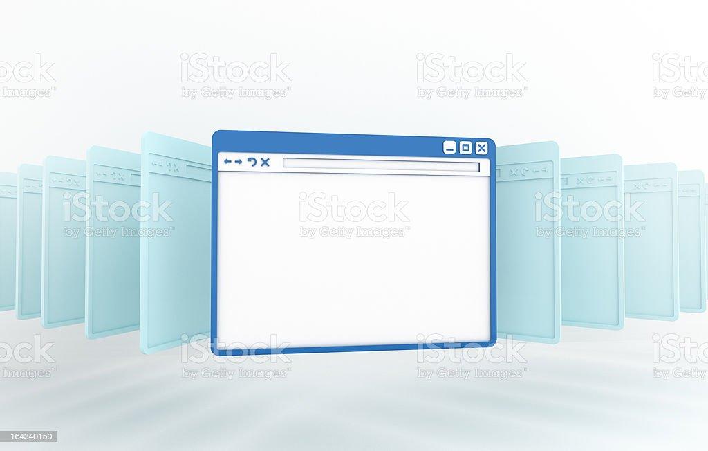 internet browser window stock photo