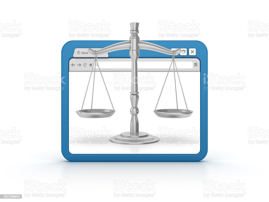 Internet Browser with Weight Scale stock photo