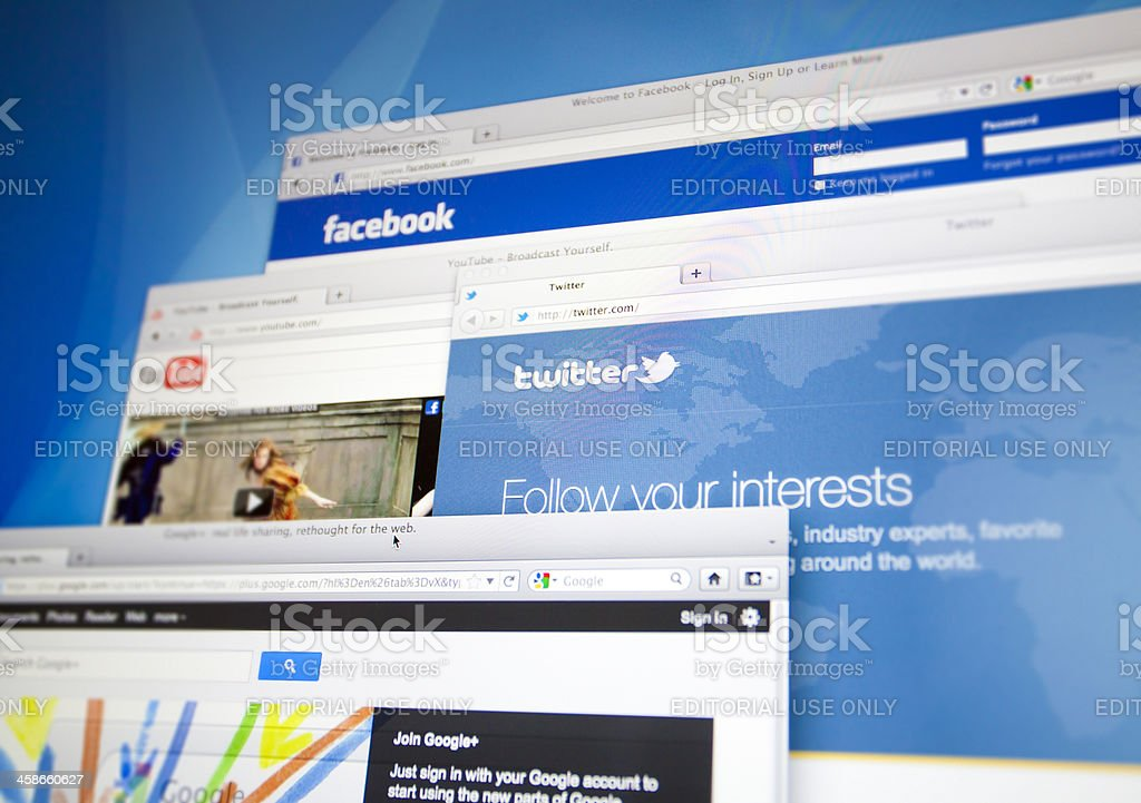 Internet browsers stock photo