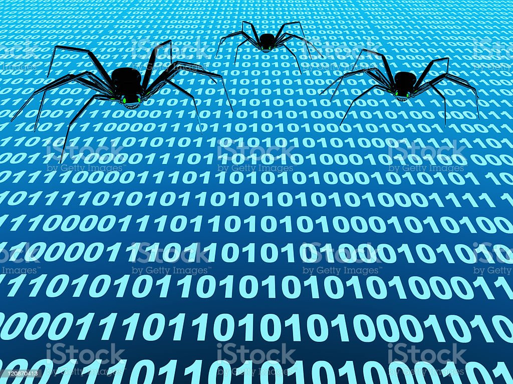 Internet bugs stock photo