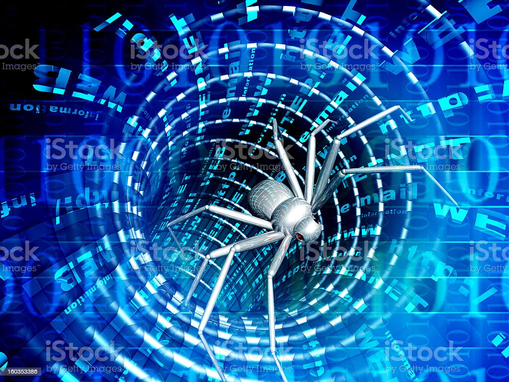 Internet bugs royalty-free stock photo