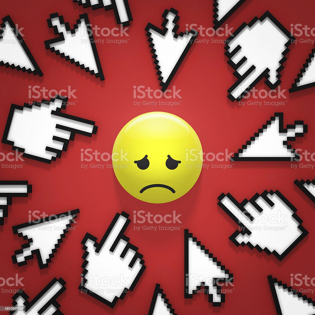 internet bullying stock photo