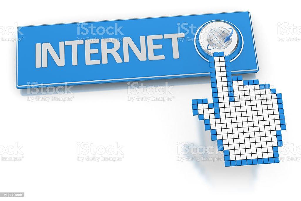Internet - Button stock photo