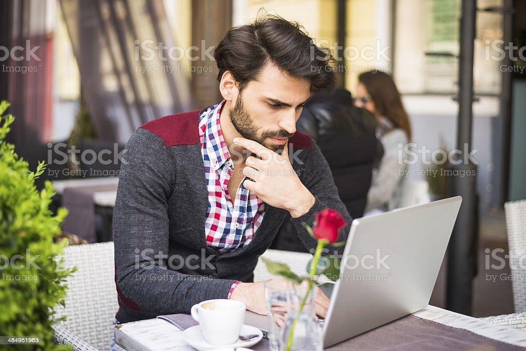Internet cafe royalty-free stock photo
