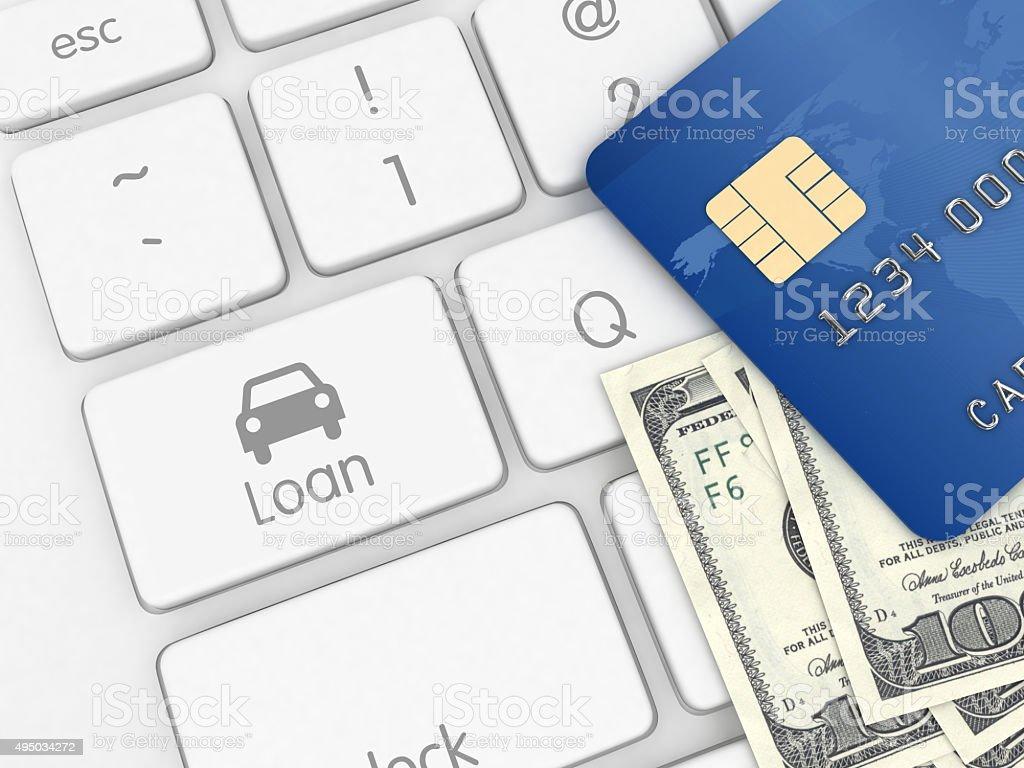 Internet car loan e-commerce stock photo
