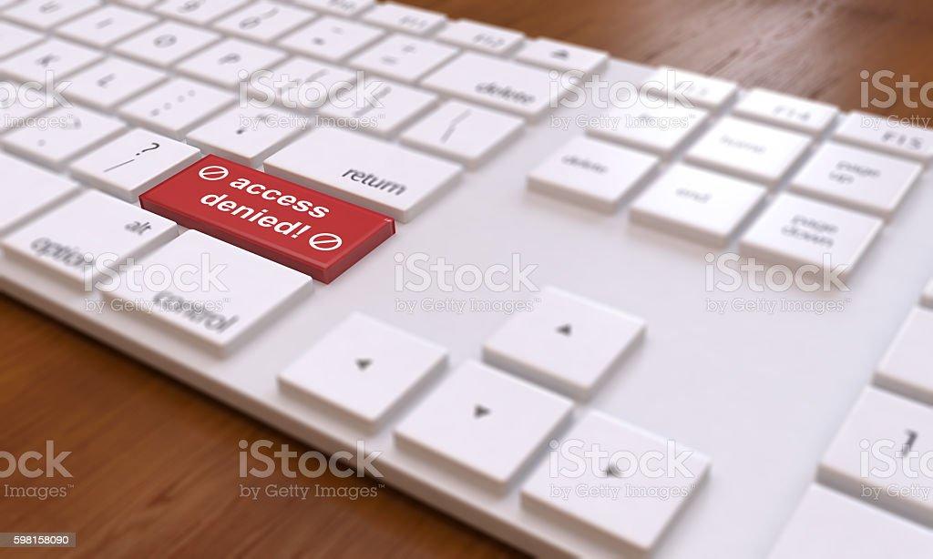 Internet Censorship With Keyboard stock photo