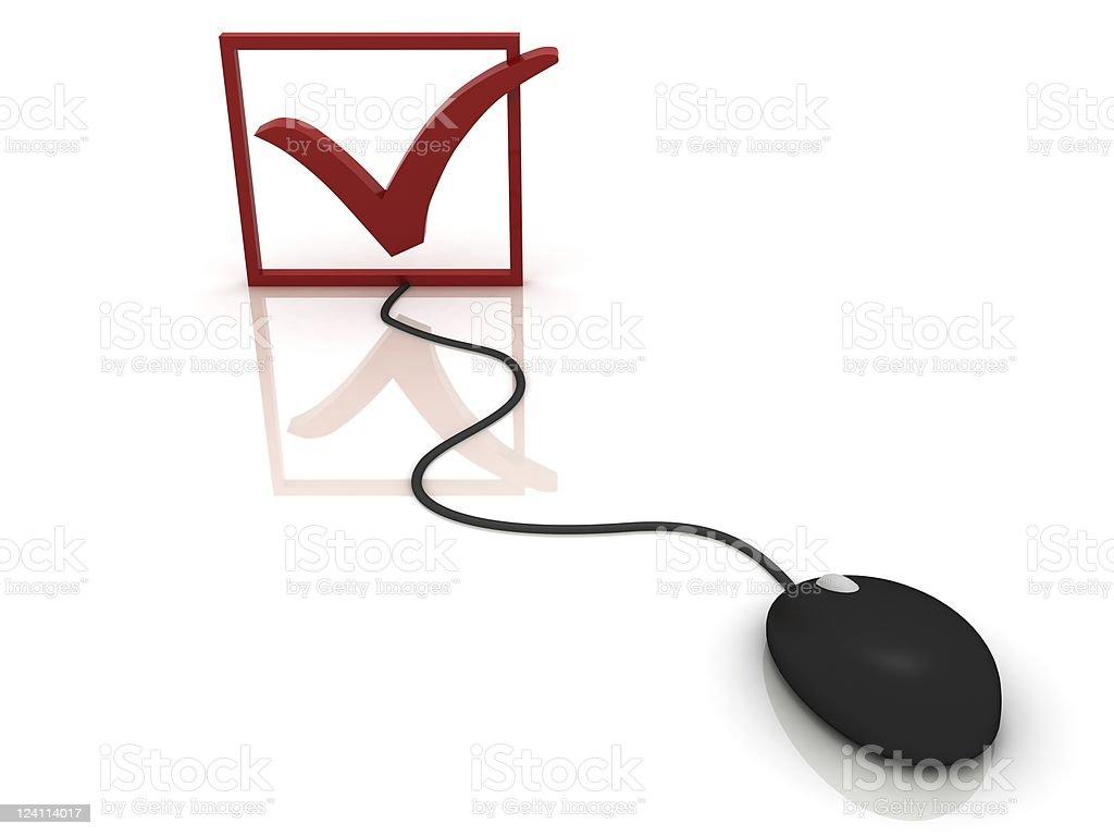 Internet Checklist royalty-free stock photo