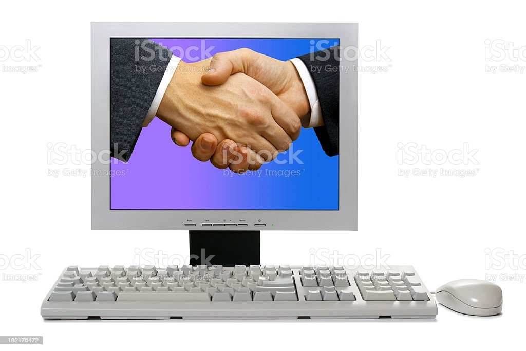 Internet collaboration royalty-free stock photo