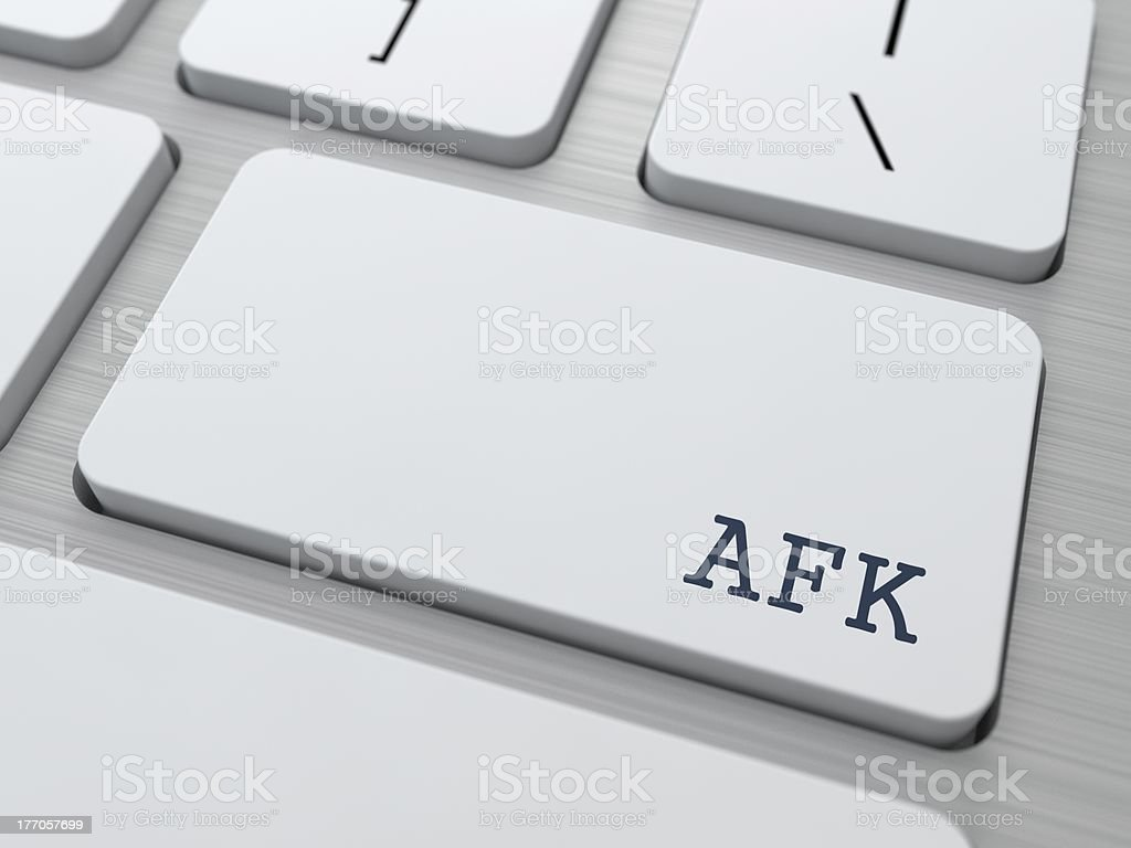 AFK. Internet Concept. royalty-free stock photo