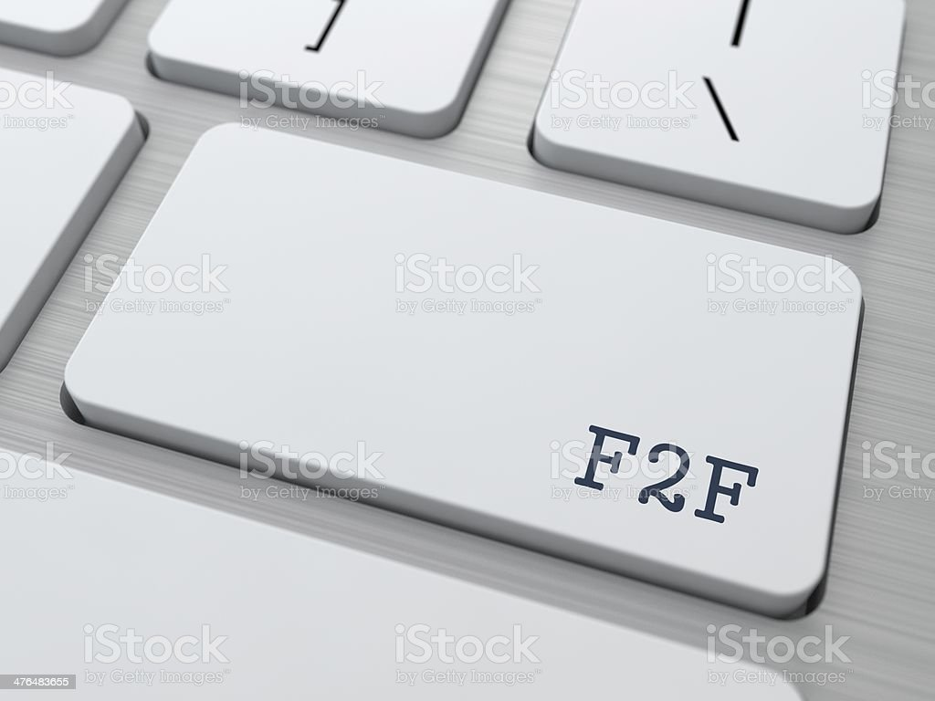 F2F. Internet Concept. royalty-free stock photo