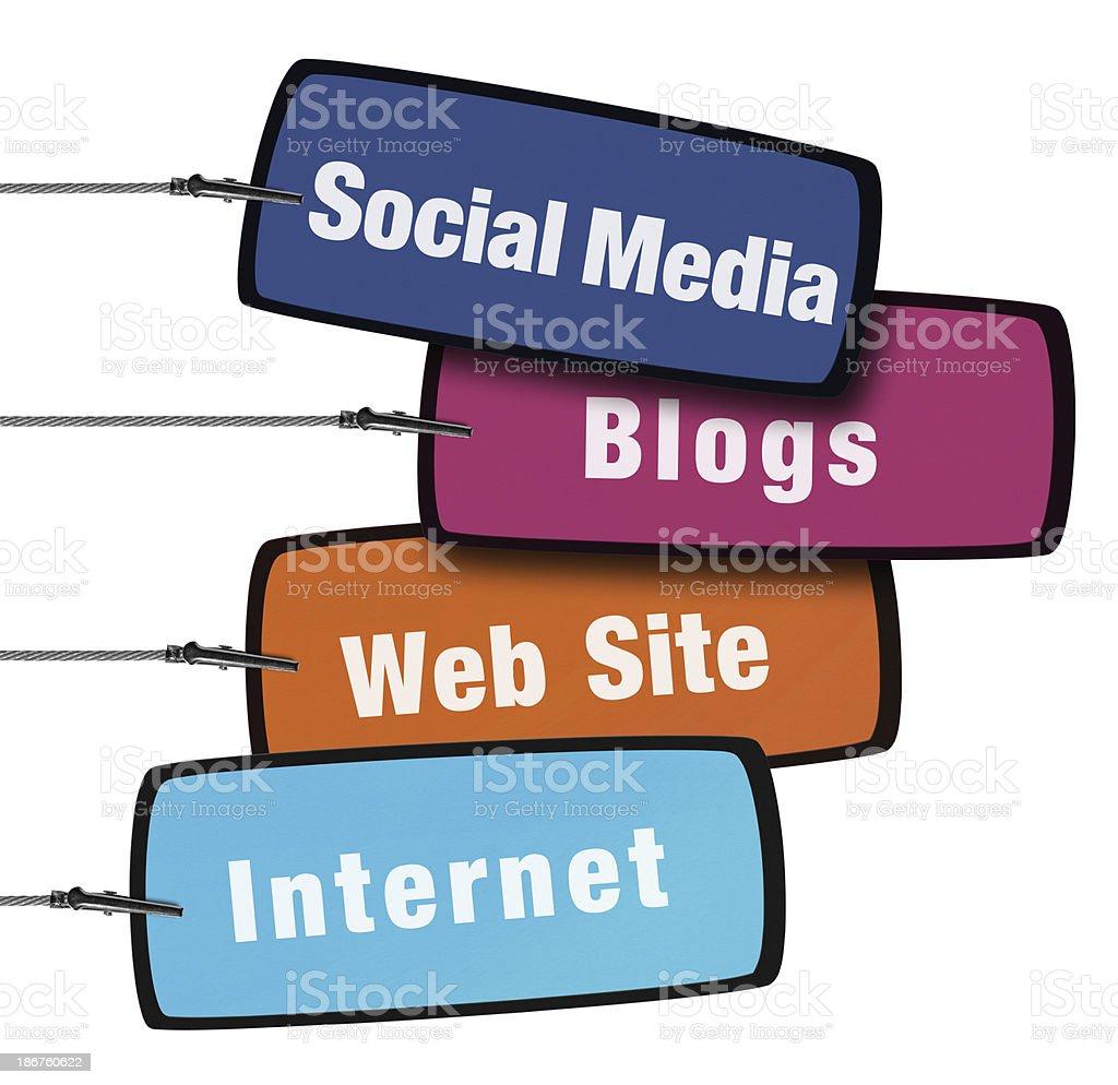 Internet Concept Speech Bubble in Wire Clam (Clipping Path) stock photo