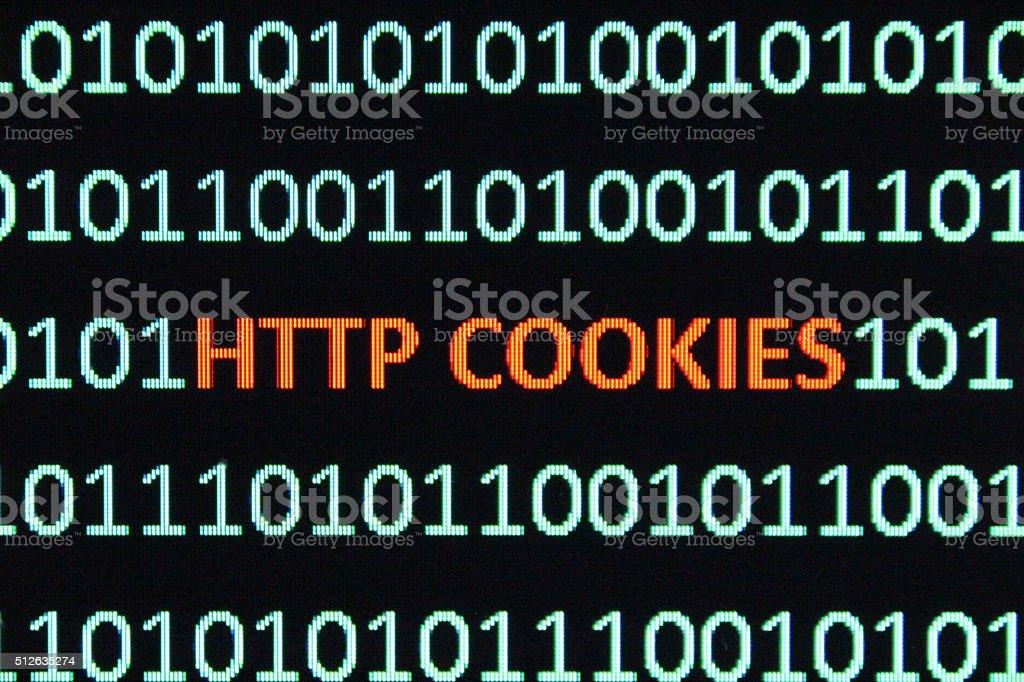 Internet Cookie stock photo