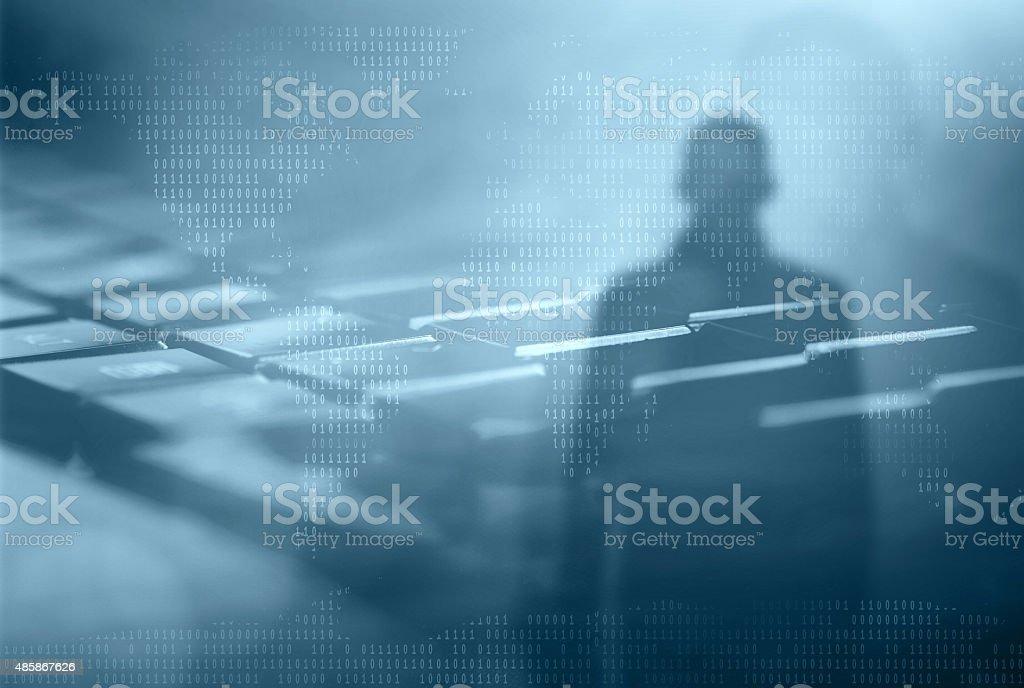 Internet crime concept. stock photo