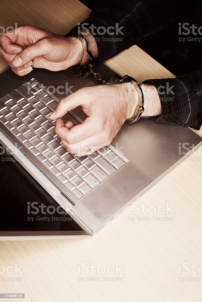 Internet Crime (Vertical) royalty-free stock photo