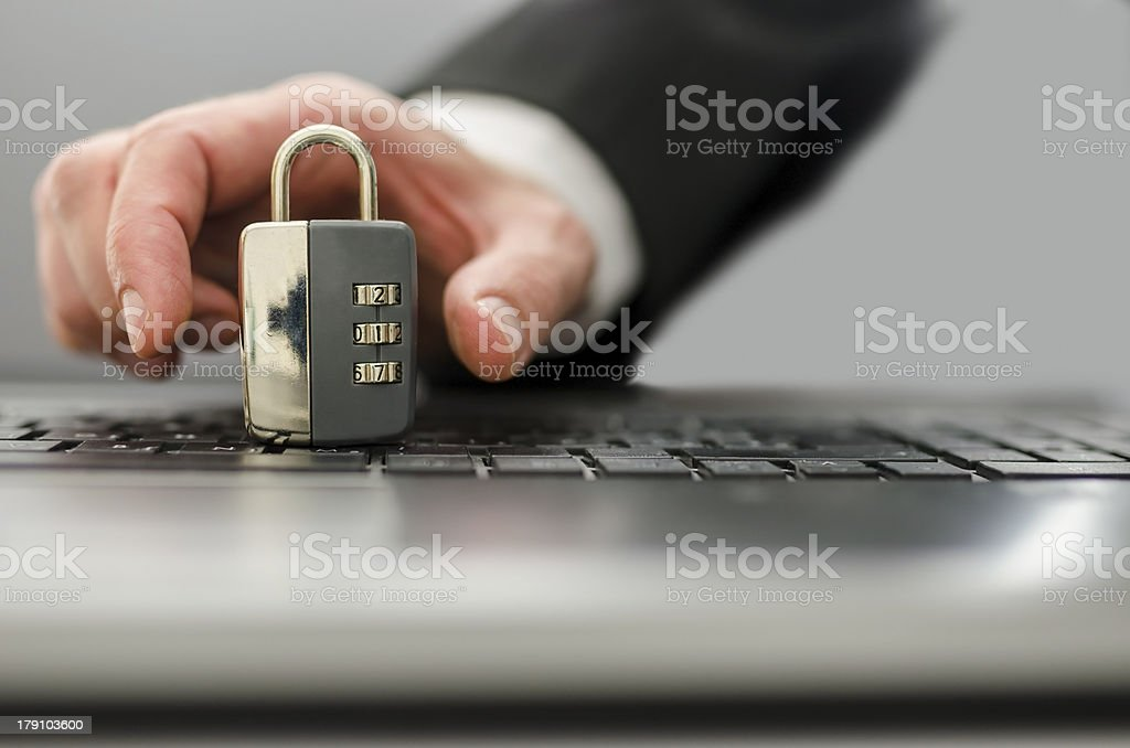 Internet crime royalty-free stock photo
