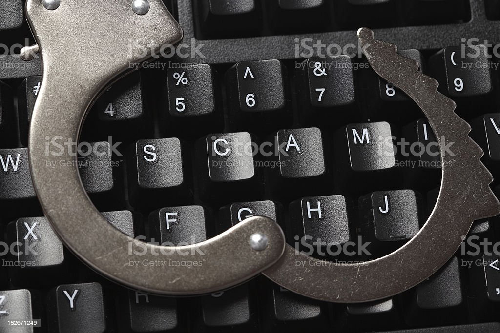 Internet Crime royalty-free stock photo