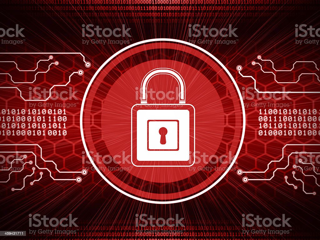 Internet Cyber Security vector art illustration