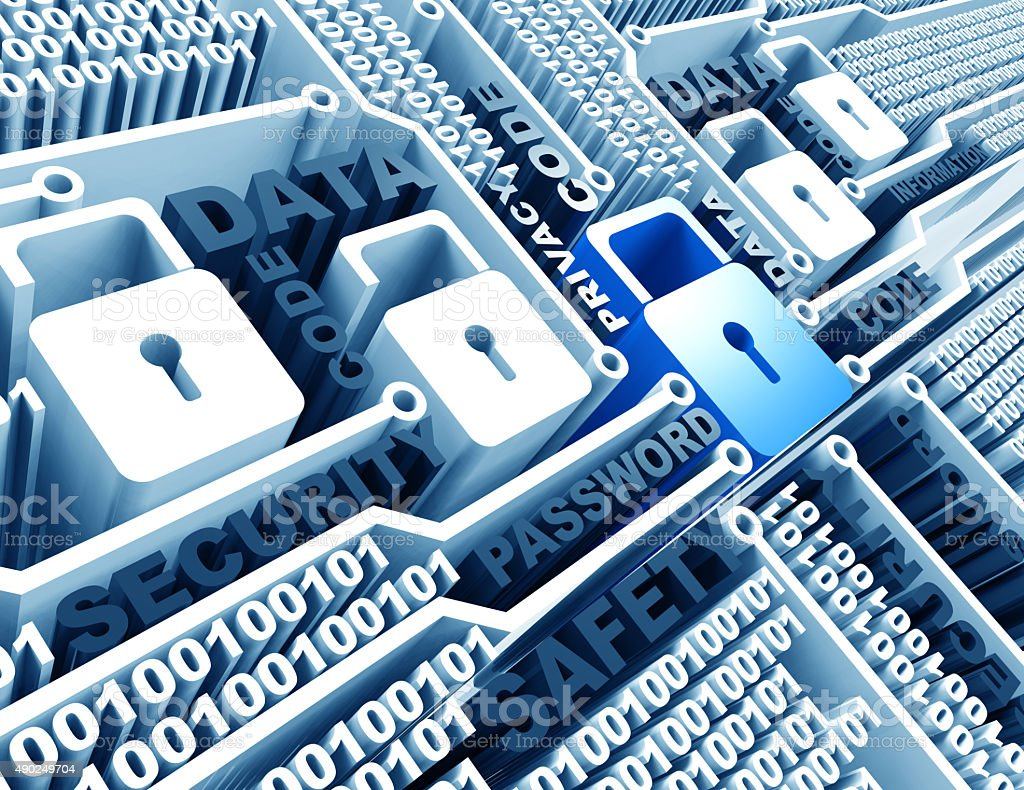 internet cyber security stock photo