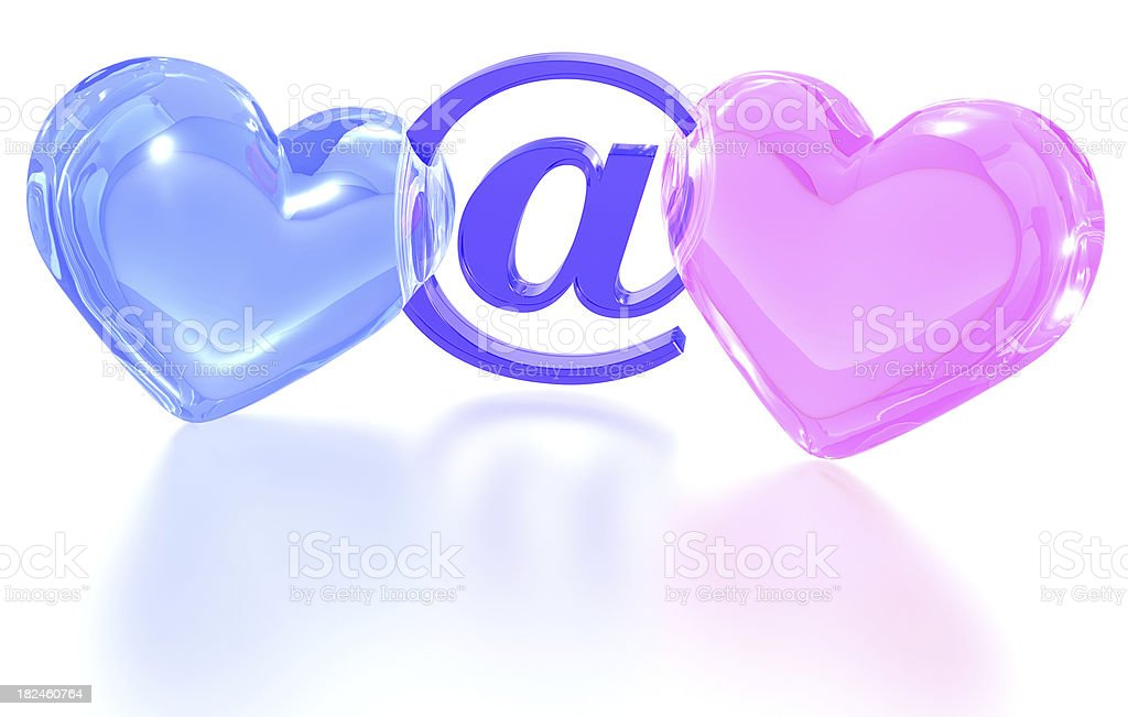 Internet dating royalty-free stock photo