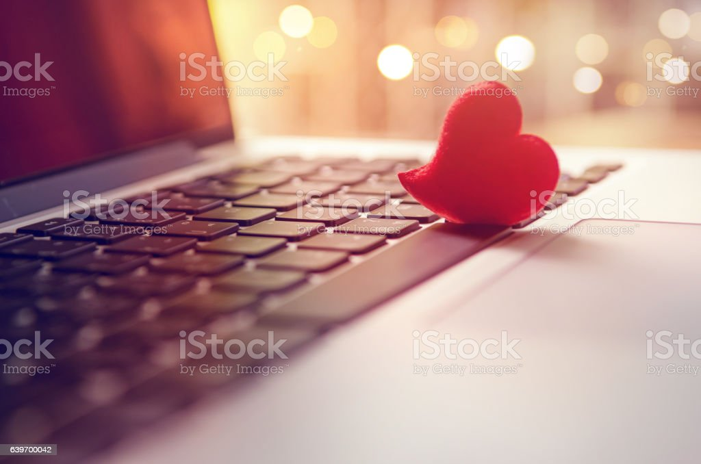 Internet dating, Valentines day concept. stock photo