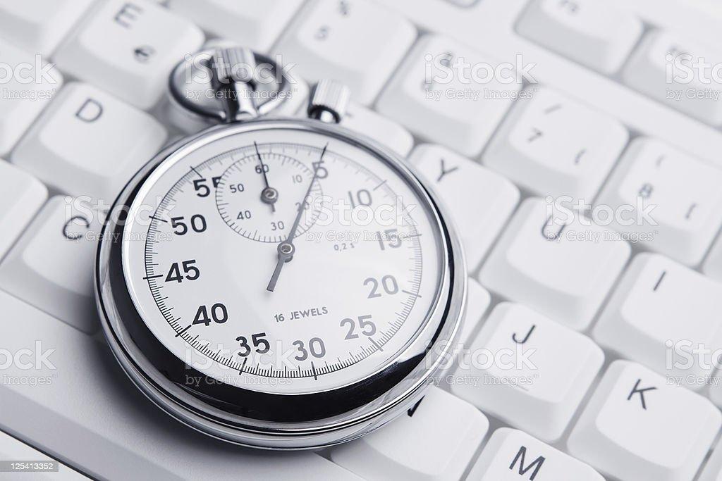 Internet deadline concept stock photo