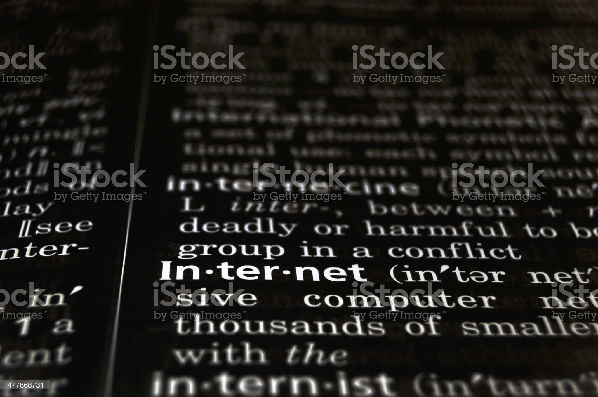 Internet Defined on Black royalty-free stock photo