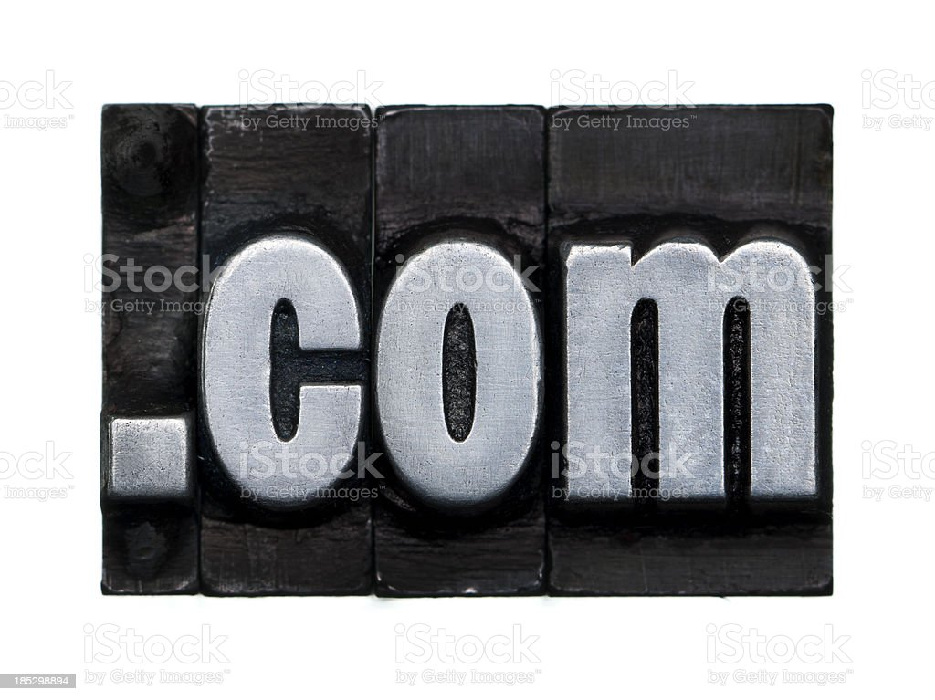 Internet domain : .com royalty-free stock photo