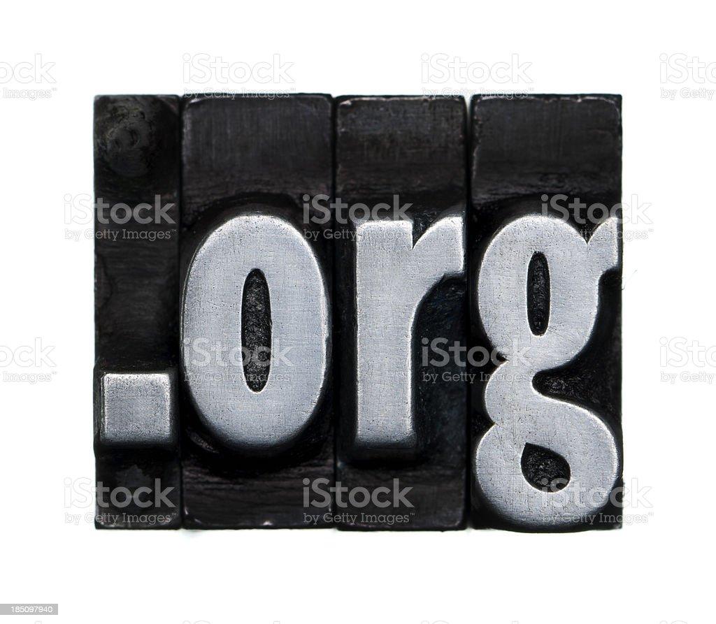 Internet domain : .org royalty-free stock photo