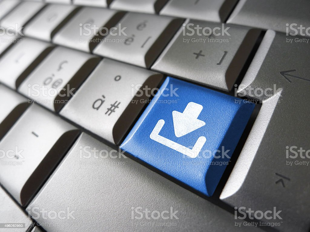Internet Download Key Button stock photo