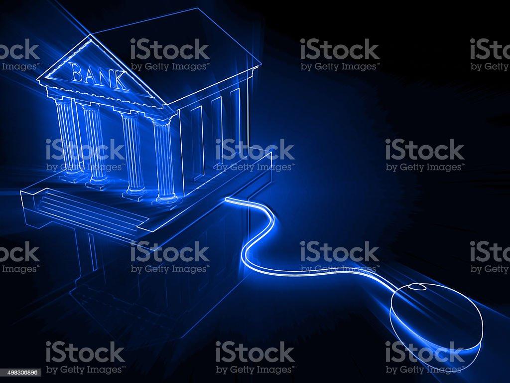 Internet e-banking stock photo