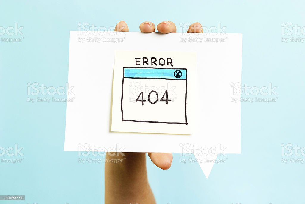 Internet error 404 page not found on blue background stock photo