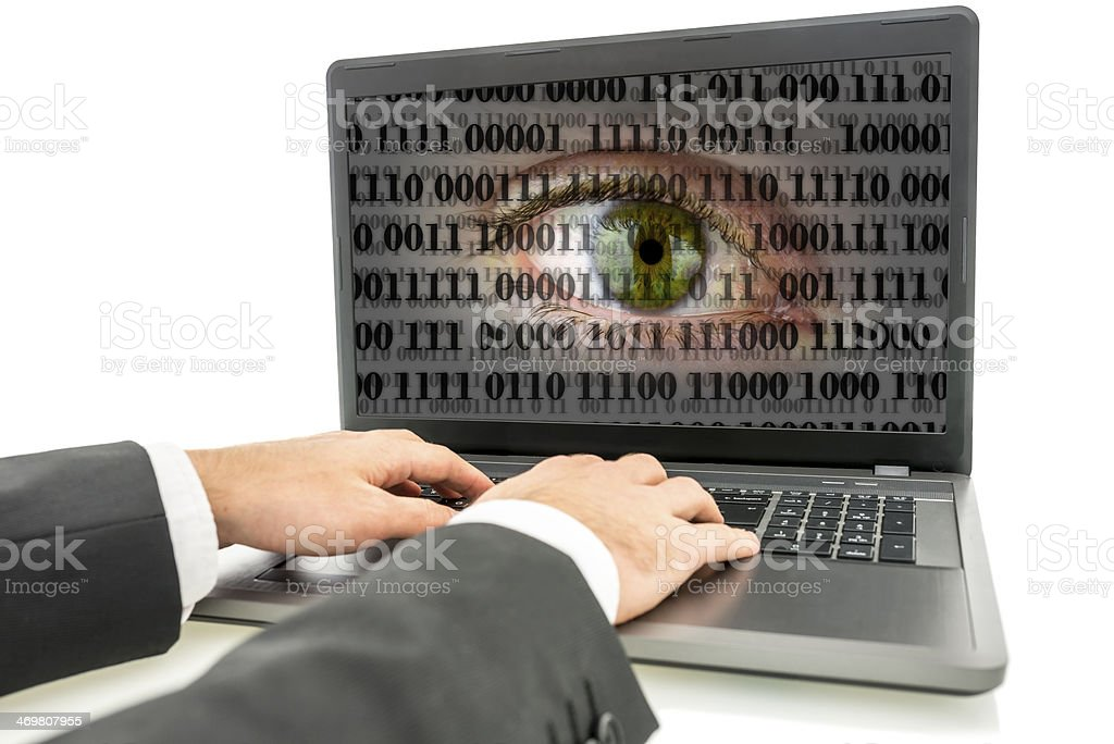 Internet espionage royalty-free stock photo