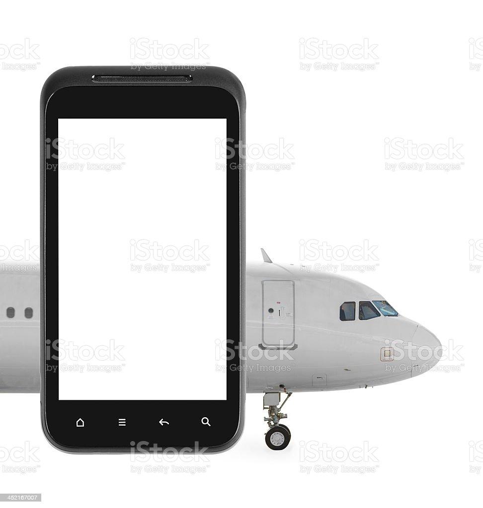 Internet flight booking royalty-free stock photo
