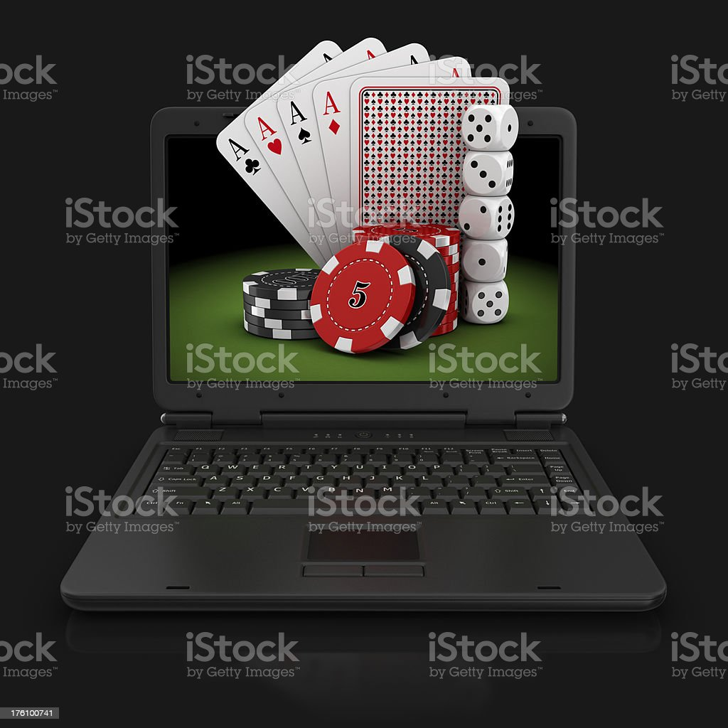 internet gambling stock photo