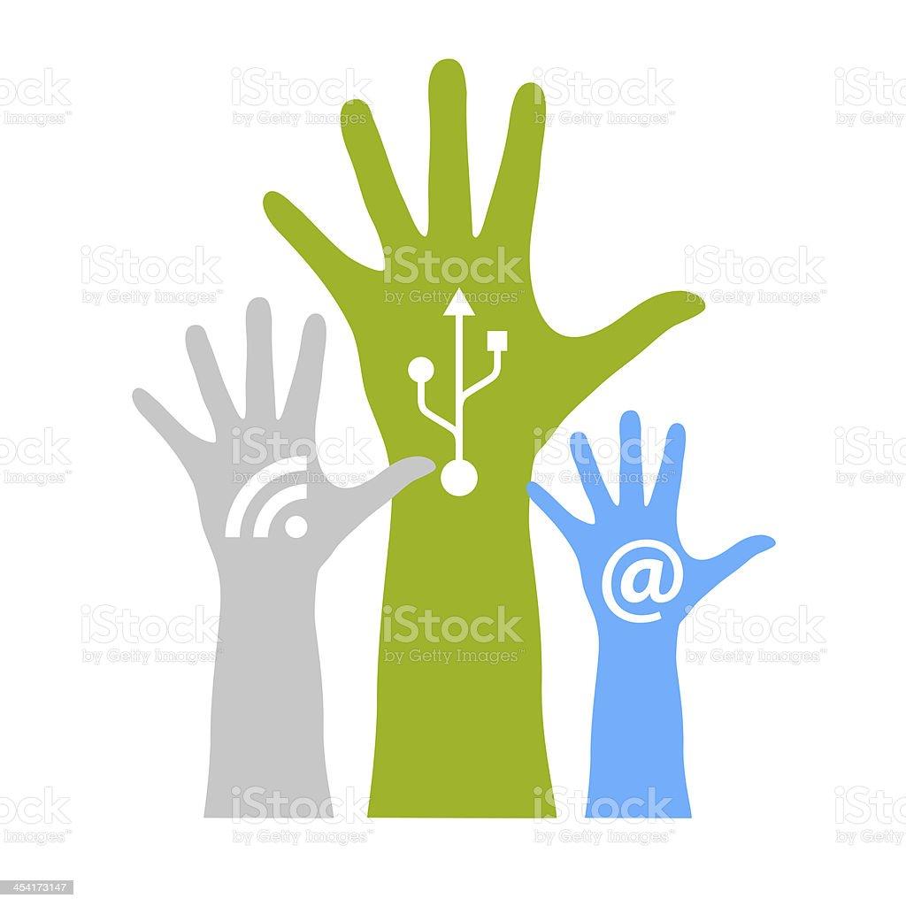 Internet generation conceptual logo stock photo