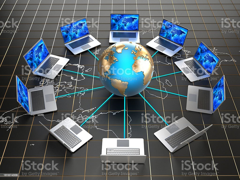Internet / Global network concept royalty-free stock photo